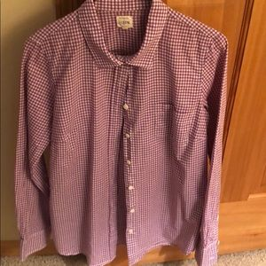 Jcrew perfect shirt in purple check - size S